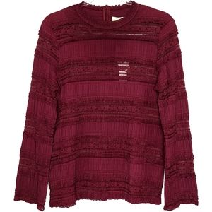 byTiMo Port lace long sleeve top blouse Large